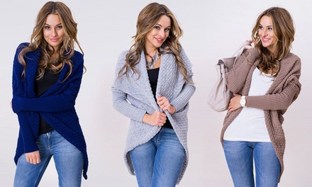 Mila Waffle Knit Cardigan in Choice of Colour for £13.98