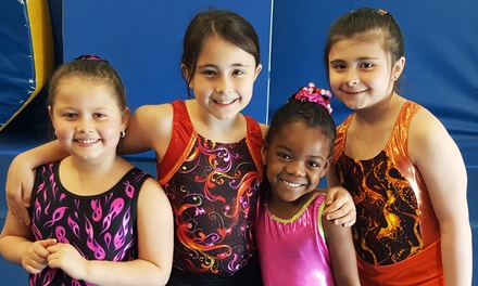 One Month of 60- or 90-Minute Gymnastics Classes or Two-Hour Drop-In Classes at Julie's Gym(Up to 56% Off)