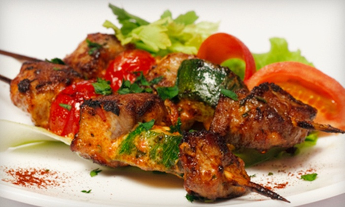 Shish Kabob Cafe - Canton: $19.99 for a Mediterranean Dinner for Two at Shish Kabob Café ($41.06 Value)
