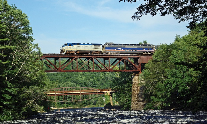 Saratoga & North Creek Railway - Multiple Locations: Scenic Adirondack Train Ride for Two or Four from Saratoga & North Creek Railway (Up to 45% Off)
