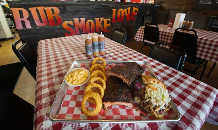 Smoq Pitt - Brookline: Barbecue Lunch or Dinner for Two or More at Smoq Pitt (48% Off)