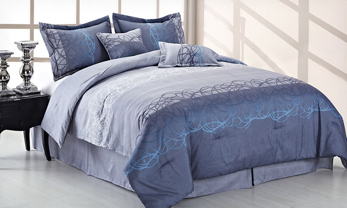 Up To 65 Off A Reversible Comforter Set