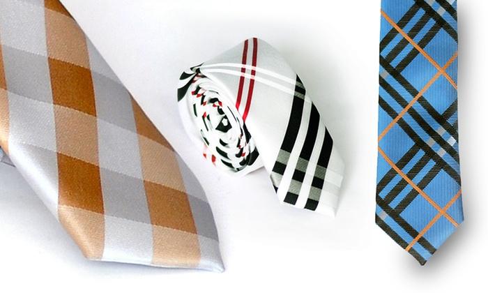 Plaid Skinny Ties: Plaid Skinny Ties. Multiple Colors Available. Free Returns.