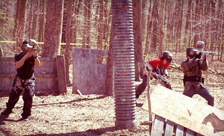 Paintball with Equipment Rental, Unlimited Air, and Paintballs for One or Two at Mansion House Paintball (Up to 52% Off)