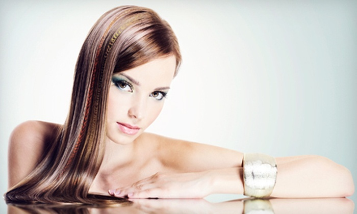 Evelyn Putnam Designs - Goldsboro: Haircut with Highlight and Blowout, or a Pravana Keratin Treatment at Evelyn Putnam Designs (Up to 68% Off)