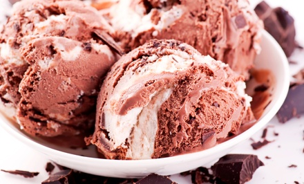 $16 for Four Groupons, Each Good for $8 Worth of Ice Cream for Two at Marble Slab Creamery ($32 Total Value)