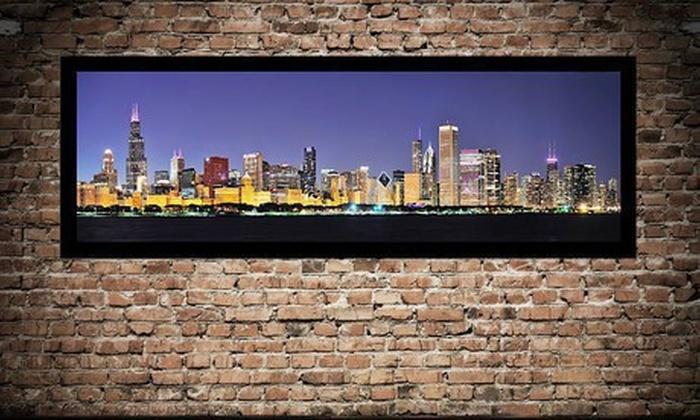 "50""x17"" City Skyline Framed Canvas: $79 for a 50""x17"" City Skyline Framed Canvas ($209 List Price). 10 Options Available. Free Shipping."