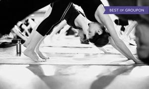 Moksha Yoga: One-Month Yoga Pass at Moksha Yoga Thornhill & North York (67% Off)