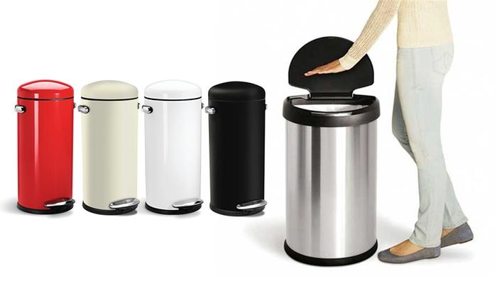 Vaak Simplehuman afvalbak | Groupon Goods BO73