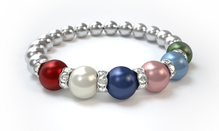 groupon daily deal - $25 for a Custom Mother's Bracelet from Pearls by Laurel ($42.85 Value)