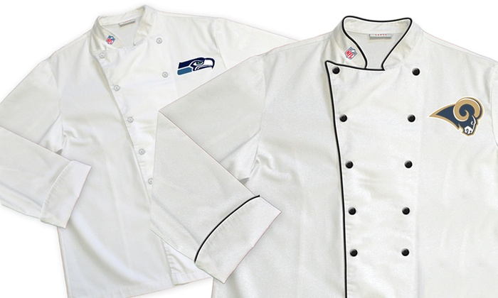 NFL NFC West Classic or Premium Chef Coats: NFL NFC West Classic or Premium Chef Coats. Multiple Teams Available from $19.99-$29.99. Free Shipping.
