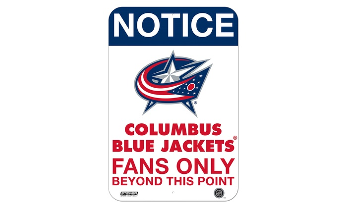 """NHL Fans Only 8""""x12"""" Aluminum Sign"""