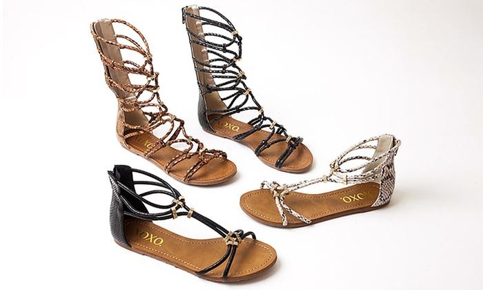 Xoxo Women S Gladiator Sandals Groupon Goods