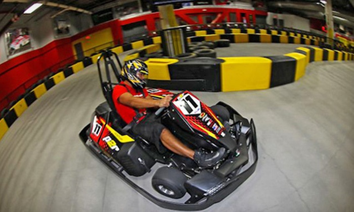 Pole Position Raceway - Central Oklahoma City: $20 for Two Indoor Adult Go-Kart Races at Pole Position Raceway (Up to $39.90 Value)