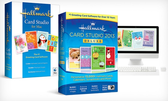 Hallmark Card Studio Software: Hallmark Card Studio for Mac or PC from Hallmark Card Studio Software (Up to Half Off)