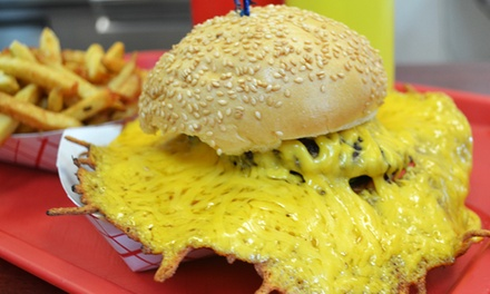 $12 for $20 Worth of Burgers and Drinks at Squeeze Inn Hamburger in Vacaville