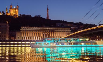 Déjeuner croisière ou dîner croisière de 2h30 pour 2 personnes dès 79,90 € avec Les Bateaux Lyonnais