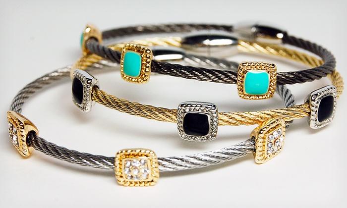 Landau Enamel Cable Bracelet: $16.99 for a Landau Enamel Cable Bracelet ($95 List Price). Multiple Colors Available. Free Shipping and Returns.