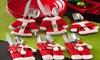 Trend Matters Santa-Suit Silverware-Holder Set (6-Piece): Trend Matters Santa-Suit Silverware-Holder Set (6-Piece)