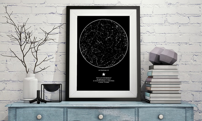 60 Off Personalized Poster Of The Night Sky