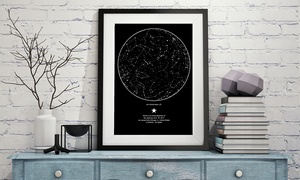 61% Off Personalized Poster of the Night Sky at My Sky Moment, plus 6.0% Cash Back from Ebates.