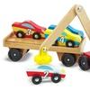 Melissa & Doug Magnetic Car Loader Wooden Vehicle Set