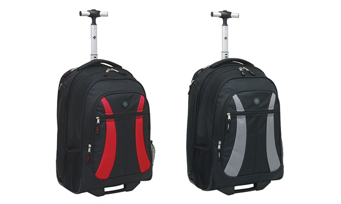 Traveler's Club Rolling Backpack | Groupon Goods