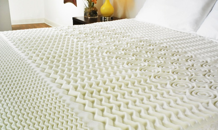"""Pure Rest Memory-Foam Mattress Topper: Pure Rest 1.5"""" Zoned Memory-Foam Mattress Topper (Up to Half Off). Multiple Sizes Available. Free Shipping."""