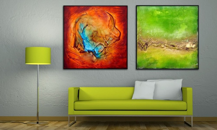Art Network Canada: Multi-Panel Oil Painting or Hand-Painted Design with Gold Membership from Art Network Canada (Up to 90% Off)