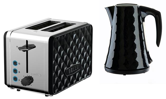 Bella Diamond Toaster & 1.4L Kettle for