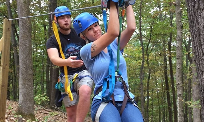 Adventure Valley - St. Louis: 10-Zipline Canopy Tour for One, Two, or Four at Adventure Valley (Up to 29% Off)