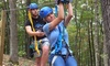 Adventure Valley - St. Louis: Ten-Zipline Canopy Tour for Two or Four People at Adventure Valley (Up to 30% Off)