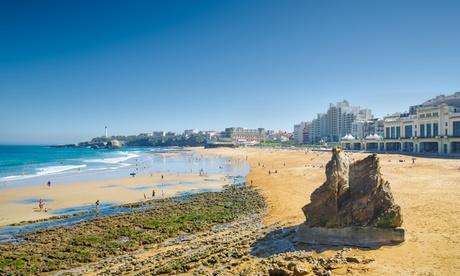 Biarritz: habitación doble con vistas al mar para 2 personas y opción a desayuno en el Hotel de la Plage
