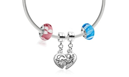 $19 for a Mother-Daughter Necklace with Two Custom Beads or Charms from IRIS Beads & Charms ($104 Value)