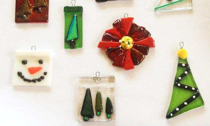 Artistic Adventures - South Forsyth: Fused-Glass Ornament Class for One, Two, or Four at Artistic Adventures (48% Off)