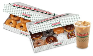 $10 For $20 Worth Of Doughnuts And Beverages At Krispy Kreme