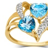 1.50 CTTW Swiss Blue Topaz and Diamond Accent Ring in 10K Gold