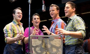"""""""Jersey Boys"""": """"Jersey Boys"""" at August Wilson Theatre, June 30–July 5 (Up to 46% Off). Offer Powered by Telechargeoffers.com"""