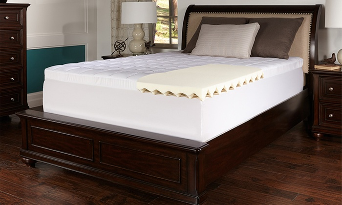 Up To 83 Off On Lux Comfort Foam Mattress Topper Groupon Goods