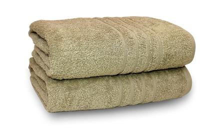 "Oversized 35""x66"" 100% Cotton Bath Sheets (2-Pack)"