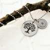Personalized Family Tree Stamped Pendant