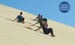 4WD Tours R Us: Full-Day Sandboarding Experience for One ($19.50), Two ($39) or Ten People ($175) at 4WD Tours R Us (Up to $280 Value)