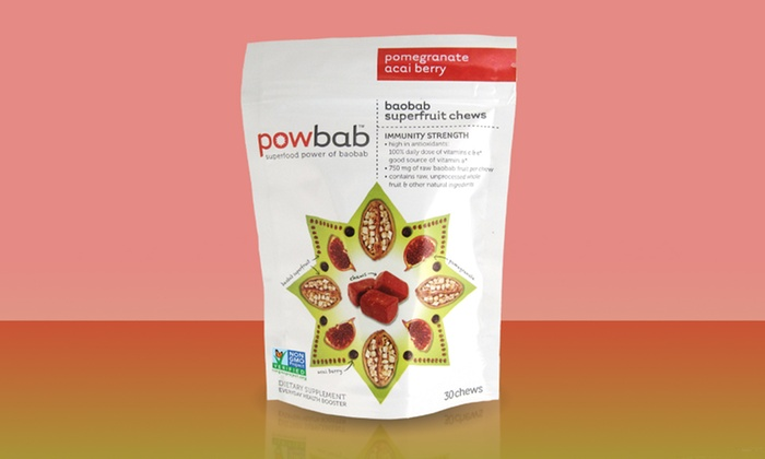 Powbab Baobab Superfruit Chews: $9.99 for a 30-Count Pack of Powbab Baobab Superfruit Chews ($21.99 List Price)