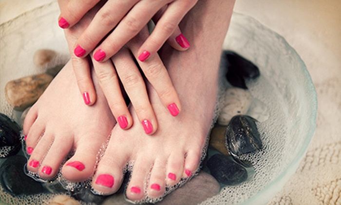 Mid City Salon - Multiple Locations: Mani-Pedi with Optional Shellac Mani and Spa Pedi Upgrades, or Princess Makeover Party at Mid City Salon (Up to 55% Off)