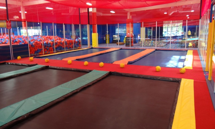 Jumpstreet - Dallas - Multiple Locations: Two Hours of Trampoline Jumping, Games, and Activities for Two or Four at JumpStreet (Up to 52% Off)