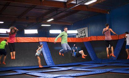 image for Two 60-, 90-, or 120-Minute Jump Passes or Birthday Party Package at Sky Zone (Up to 31% Off)