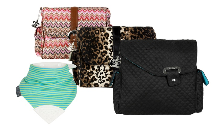 Kalencom Messenger-Style Diaper Bag With Free Cheeky Chompers Neckerchew