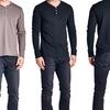 Men's Long-Sleeve Cotton-Blend Henley Shirt