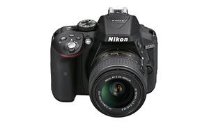 Nikon D5300 24.4MP DSLR Camera and 18-55mm Lens Bundle (Refurbished)