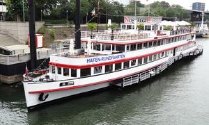 Weisse Flotte Düsseldorf/Duisburg GmbH: 2 Std. Hafenrundfahrt für 2 oder 4 Personen mit der Firma Weisse Flotte Düsseldorf/Duisburg GmbH (bis zu 38% sparen*)